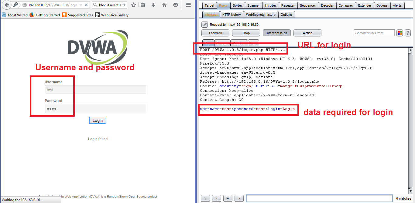 How to guess the passwords from Log-in page – hydra (Post